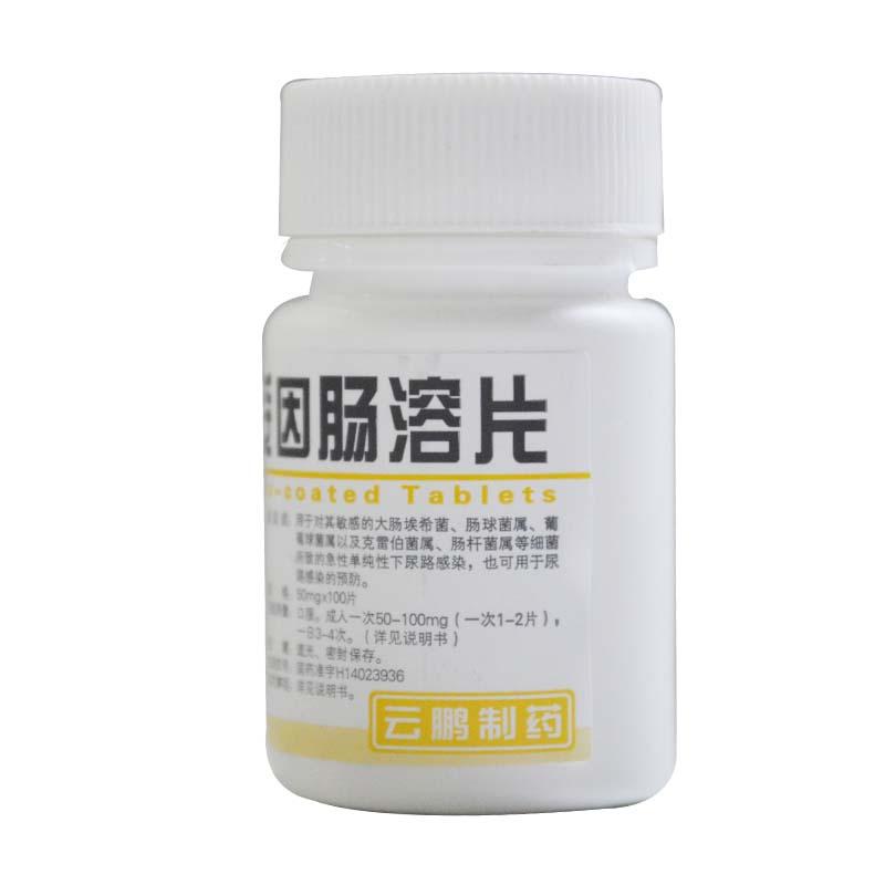 呋喃妥因肠溶片50mg*100片